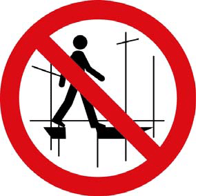 Do not access the scaffold because it is