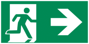 E002 Emergency exit right hand