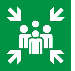 It tells you where to assemble in case of an