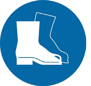 Safety boots or safety shoes must be worn