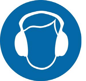 You must wear hearing protection