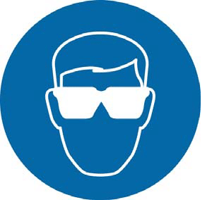 You must wear safety eye protection