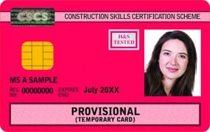 cscs red provisional card