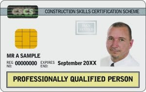 cscs white card Professionally Qualified Person